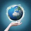 Our world in our hands abstract eco backgrounds for your design Stock Images