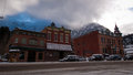Ouray colorado january winter view of the parked cars in the city in the mountains Stock Photos