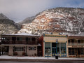Ouray colorado january winter view of the parked cars in the city in the mountains Royalty Free Stock Photos
