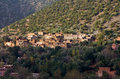 Ourika village moroccan berber in the mountains with terrace culture valley morocco Royalty Free Stock Photography
