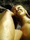 Ouro Buddha de sono Fotos de Stock