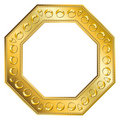 Ouro do frame - Octagon 2 Fotografia de Stock Royalty Free