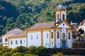 Ouro Preto church Royalty Free Stock Photos