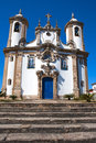 Ouro preto church minas gerais brazil view of a at the unesco world heritage city of in Stock Photo
