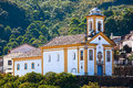 Ouro preto church view of a of in minas gerais brazil Stock Images
