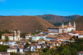 Ouro preto cityscape minas gerais brazil view of the unesco world heritage city of in Royalty Free Stock Photo