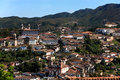 Ouro preto cityscape minas gerais brazil view of the unesco world heritage city of in Stock Photography