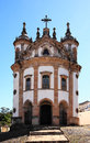 Ouro preto view of the church nossa senhora de rosario of the unesco world heritage city of in minas gerais brazil Royalty Free Stock Photography