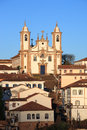 Ouro preto view of the igreja de nossa senhora do carmo of the unesco world heritage city of in minas gerais brazil Stock Photo