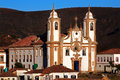 Ouro preto view of the igreja de nossa senhora do carmo of the unesco world heritage city of in minas gerais brazil Stock Images