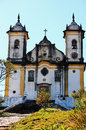 Ouro preto viewof the church sao francisco de paula of the unesco world heritage city of in minas gerais brazil Royalty Free Stock Photos