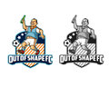Out of Shape Sport Cartoon Logo