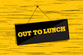 Out to lunch message Royalty Free Stock Photography