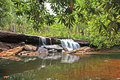 Outback falls isabella waterfall on river cape york queensland Royalty Free Stock Image