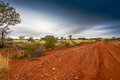 Outback road in western australia Stock Photography