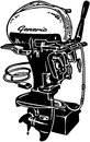 Outboard Motor 2 Royalty Free Stock Photo