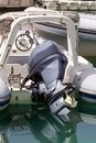 The outboard motor Royalty Free Stock Photo