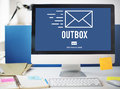 Outbox Inbox Email Connection Global Communications Concept Royalty Free Stock Photo