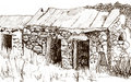 Outbuilding sketch Royalty Free Stock Images