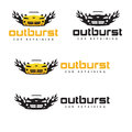 Outburst car repairing company logo design Royalty Free Stock Photo