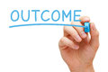 Outcome Blue Marker Royalty Free Stock Photo