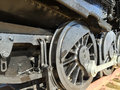 Outdated black train wheels Royalty Free Stock Photo
