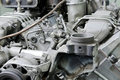 Outdated broken engine Stock Image