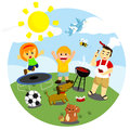 Outdoor activities many fun that can be done Royalty Free Stock Photo