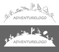 Outdoor adventure logo illustration of sports design icon Royalty Free Stock Images