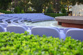 Outdoor amphitheater in limassol cyprus Stock Image