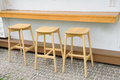 Outdoor Bar counter and Bar stools Royalty Free Stock Photo