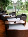 Outdoor bar, resort patio terrace Royalty Free Stock Photo