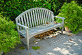 Outdoor Bench Seat Stock Photography
