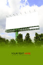Outdoor billboard in outdoors on blue sky Royalty Free Stock Photography