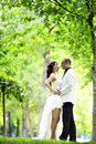 Outdoor Bride Royalty Free Stock Photo
