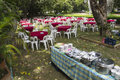 Outdoor buffet banquet Royalty Free Stock Photo
