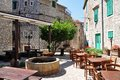 Outdoor cafe, croatia Royalty Free Stock Photo