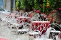 Outdoor cafe in Italy Royalty Free Stock Image