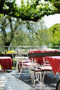 Outdoor cafe in Italy Royalty Free Stock Photos