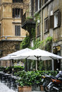 Outdoor cafe in rome an historic centre of Royalty Free Stock Photo