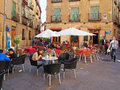 Outdoor Cafe, Spain Royalty Free Stock Photo