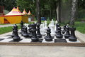 Outdoor chess board Royalty Free Stock Photo