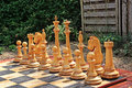 Outdoor chess Royalty Free Stock Photo