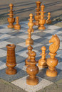 Outdoor chess game 2 Royalty Free Stock Image