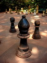 Outdoor chess game Stock Photos