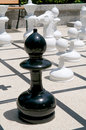 Outdoor chess games Royalty Free Stock Image