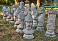 Outdoor chess pieces Royalty Free Stock Photo