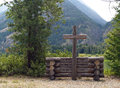 Outdoor church at stehekin on lake chelan wa usa Royalty Free Stock Image