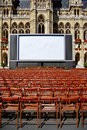 Outdoor cinema in front of town hall in Vienna Royalty Free Stock Photography