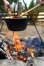 Outdoor cooking Royalty Free Stock Photography